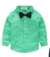 Autumn Long Sleeved Grid Tie Gentleman Blouse