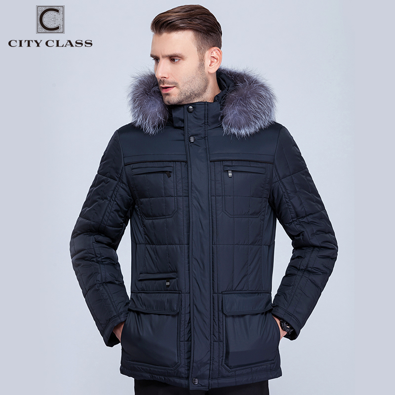City Class Men's Winter Thinsulate Coats Silver fox Hooded Jackets Thick Warm Fashion Casual Stand Collar Removable Hat 14342-in Parkas from Men's Clothing    2