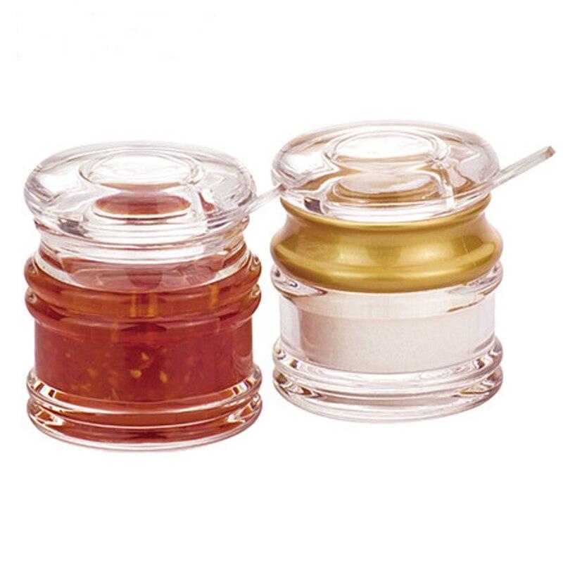 Acrylic Seasoning Pot Originality Granulated Sugar Bottle Plastic Saltcellar With Scoop YAB002