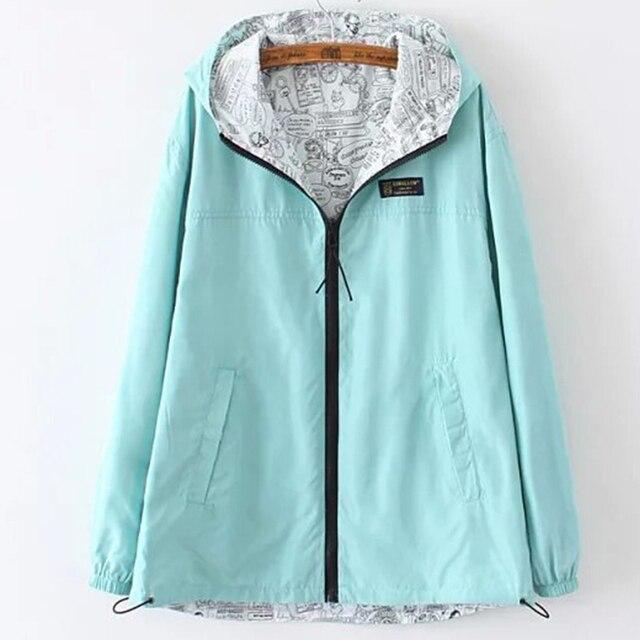 Осень Женщины куртки сплошной цвет с капюшоном простой женский пальто на молнии основные куртки пальто повседневный стиль куртки mujer jtj378