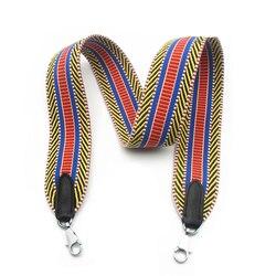 Fabric Women Fashion Bag Wide Strap High Quality Ladies Shoulder Bag Belts Trendy Stylish Length Custom Made Bags Strap