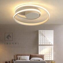 Luces de techo LED modernas, lámpara de techo de aluminio en blanco y negro, para sala de estar y dormitorio