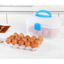 NAI YUE 1pc Egg Food Container Two Layers case Storage Box Egg tool multifunctional novelty Portable #20