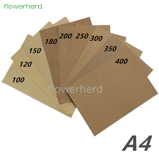 US $6 99 15% OFF|250 400gsm 10/20/50pcs A4 Brown Kraft Paper DIY Handmake  Card Making Craft Paper High Quality Thick Paperboard Cardboard-in Craft