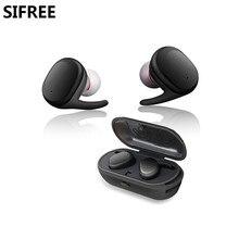 SIFREE Jumeaux Vrai Tactile Sans Fil Bluetooth Écouteurs Casque avec Mic TWS Casque Mini Écouteurs Écouteur avec Portable Chargeur