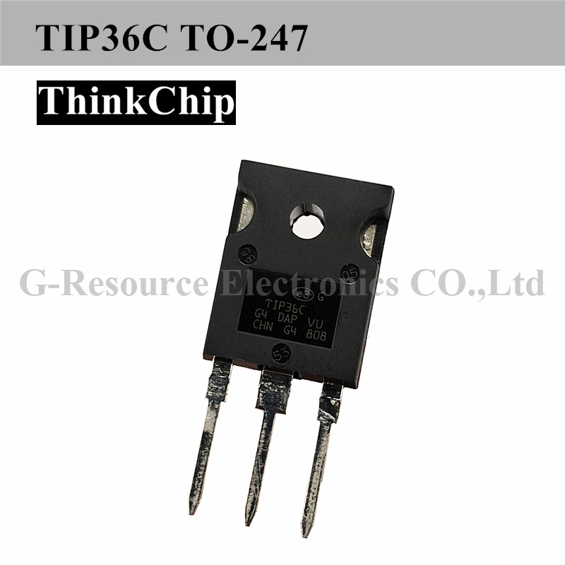 Free Shipping 10 PCS / Lot TIP36C TO-247 Bipolar (BJT) Single Transistor, PNP