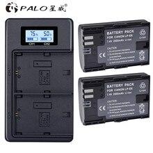 2x LP E6 LPE6 LP-E6 E6N Battery 2000mAh + LCD Dual Charger For Canon EOS 5DS R 5D Mark II 5D Mark III 6D 7D 80D EOS 5DS R Camera 2x lp e6 battery lp e6n replacement batteries car charger for canon eos 60d 70d 5d mark ii mark iii mark iv 5ds 5ds r 6d 7d