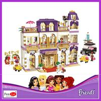 BELA 10547 Girls Friends Heartlake Grand Hotel Building Blocks Kid Model DIY Bricks Toys Gift