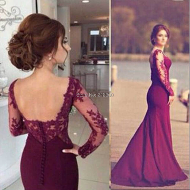 See through Backless Prom Dresses