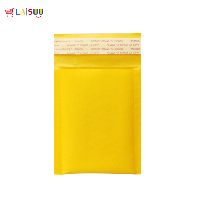 5pcs 4 3x5 1inchs 11x13cm Golden Kraft Paper Bubble Envelopes Bags Mailers Padded Envelope With Bubble Mailing Bag jiffy bags in Paper Envelopes from Office School Supplies