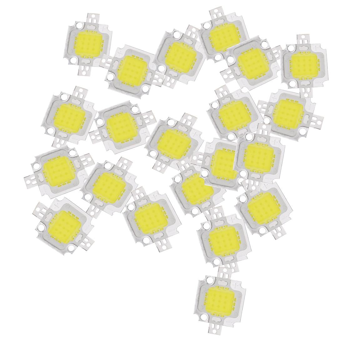 20 pièces 10W LED blanc pur haute puissance 1100LM lampe à LED SMD puce ampoule DC 9-12V 6000-6500K Super ampoule LED lumières de remplacement