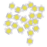 20 piezas 10W LED blanco puro alta potencia 1100LM lámpara LED SMD Chip bombilla DC 9-12V 6000-6500K Super bombillas LED luces de repuesto