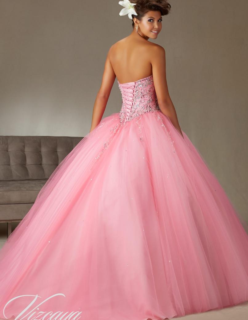Barato coral quinceanera vestidos Sweet 16 princesa verde menta Rosa ...