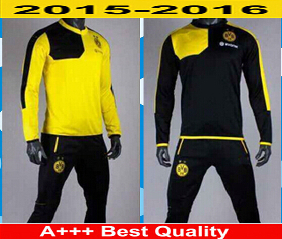 43a5a2d12e2e3 2016 chandal Borussia Dortmund tracksuits survetements football Borussia  dortmund training BVB dortmund top pant sweatshirt