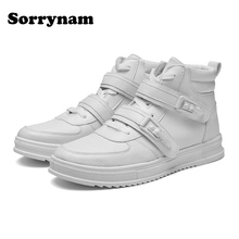 hot deal buy men shoes boots fashion high shoes casual men's shoes new dr.wall brand comfortable shoes pu upper men's shoes