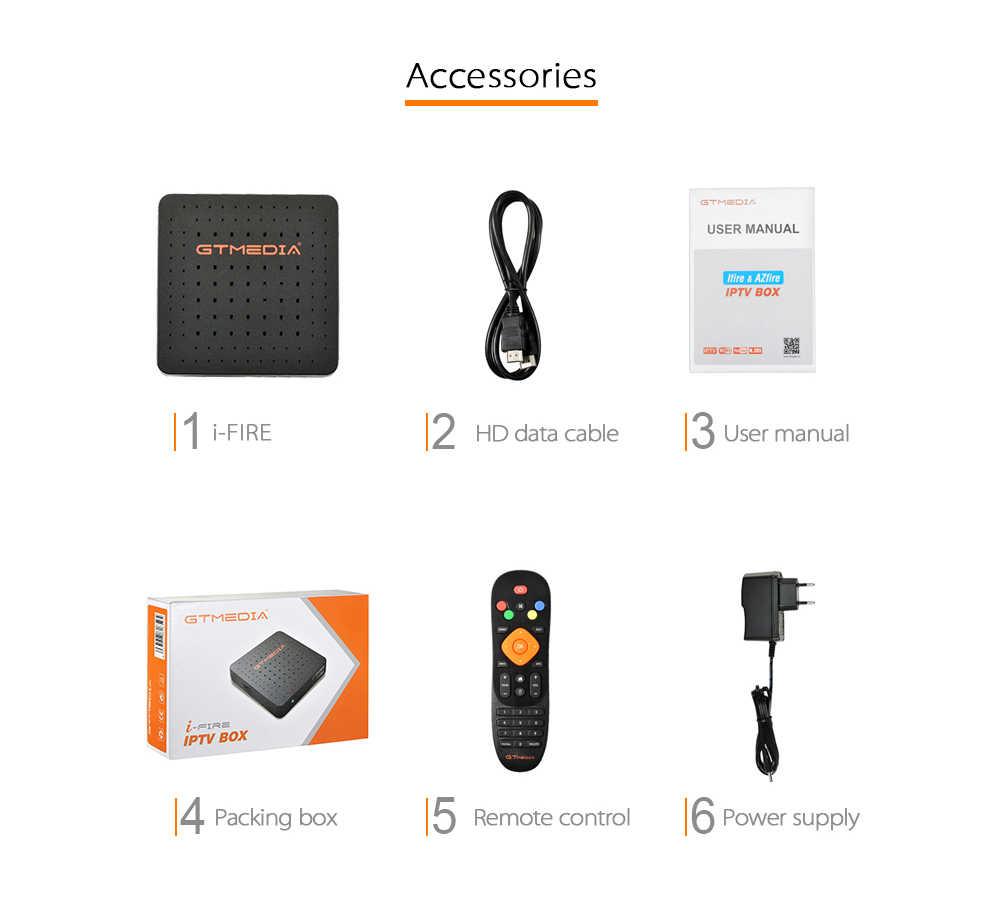 Gtmedia Ifire Iptv Box Digitale Set Top Box Tv Decoder Full Hd 1080P (H.265) ingebouwde Wifi Module Ondersteuning Iptv Spanje De Het Uk M3u