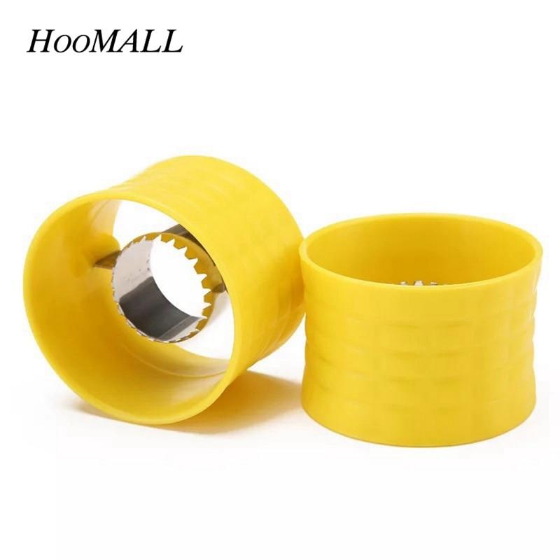Hoomall 1Pc Creative Hand Corn Stripper Grain Separator Cob Remover Kitchen Easy Gadget Thresger Shaver Cutter Cooking Tool