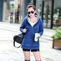 Female Hooded Sweatshirt Winter Fashion Casual Solid Zippered Hoodies Thick Warm Lady Fleece Jacket Wool Liner Hoody Coat  z5