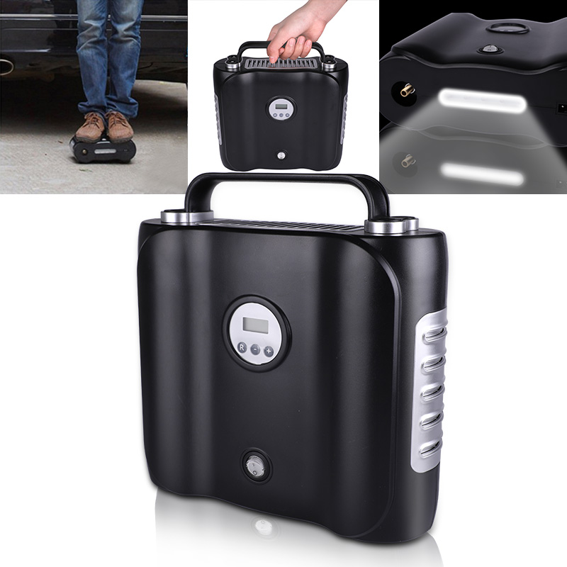Image 5 - 12V Digital display Electric Car Air Compressor Pump LED Light Digital Inflatable Pump Double Cylinder Digital Car Air Inflator-in Inflatable Pump from Automobiles & Motorcycles
