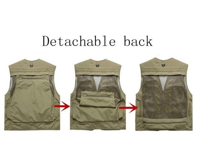 Fishing Vests Quick Dry Breathable Multi Pocket Mesh Vest Sleeveless Jackets Unloading Photography Hiking Vest Fish Vest,GA283 8