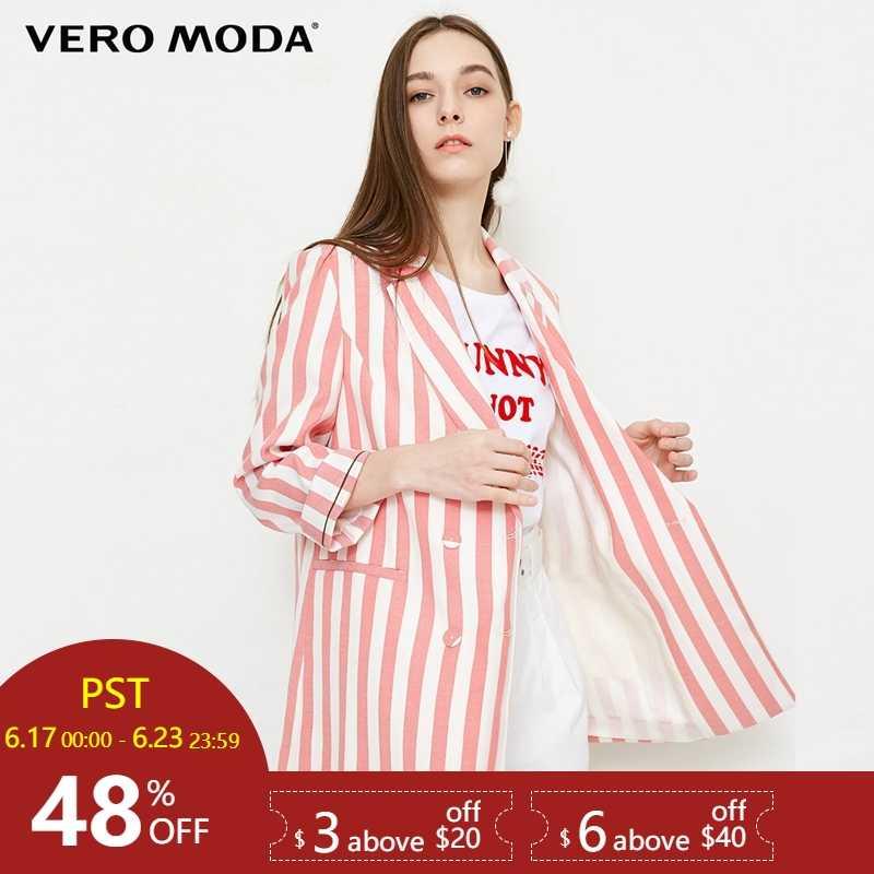 Vero Moda/Новый Повседневный блейзер в полоску с короткими рукавами; 318208525