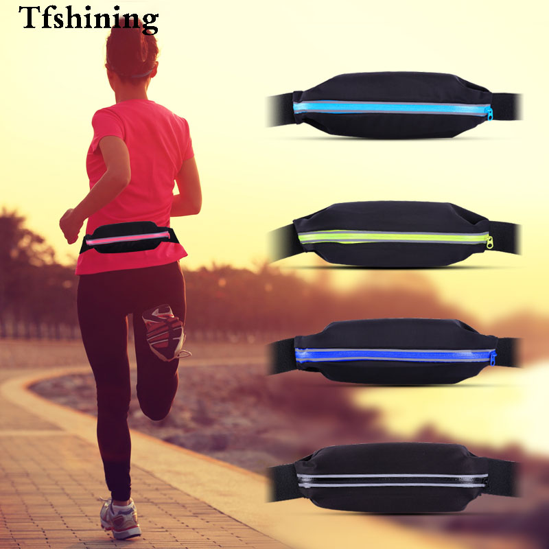 Tfshining Waterproof Running Sports Bags GYM Waist Phone Bags Packs Belt Pouch case for cell phone 4-5.5 inch mobile phone bags