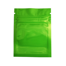 200Pcs 6*8cm  Reusable Mylar Ziplock Bag with Tear Notch Glossy Aluminum Foil Zip Lock Packing for Coffee Grain Sample Pack
