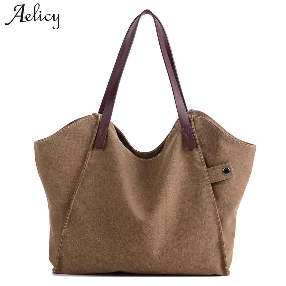 7bbda01e8 Aelicy casual canvas bag female 2019 new design woman designer bags luxury high  quality women bag
