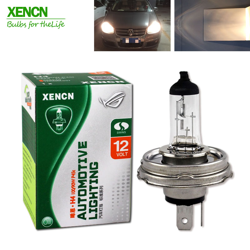 XENCN H4 P45t 12V 100/90W 3200K Clear Series Off Road Standard car Head Lights Halogen Bulb Auto Lamps Free Shipping 2PCS xencn h7 px26d 12v 100w 3200k clear series off road standard car headlight halogen bulb uv quartz brand auto lamp for mazda cx 5