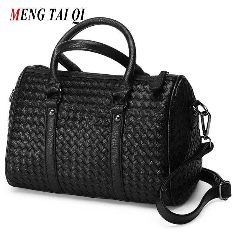 ФОТО Women bag messenger bags top-handle bags Weaving boston women leather handbags luxury handbags women bags designer fashion 55