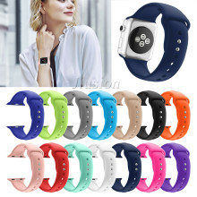 2019 New Soft Silicone Smartwatch Band Replacement Strap Sport Smart Watch Wrist Band Fit For Apple Watch Series 4/3/2/1(China)