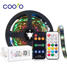 LED Strip Dream Color Set WS2811 12V Addressable RGB Changeable LED Strip,Power Adapter,21key/Music/Bluetooth/Wifi Controller(China)