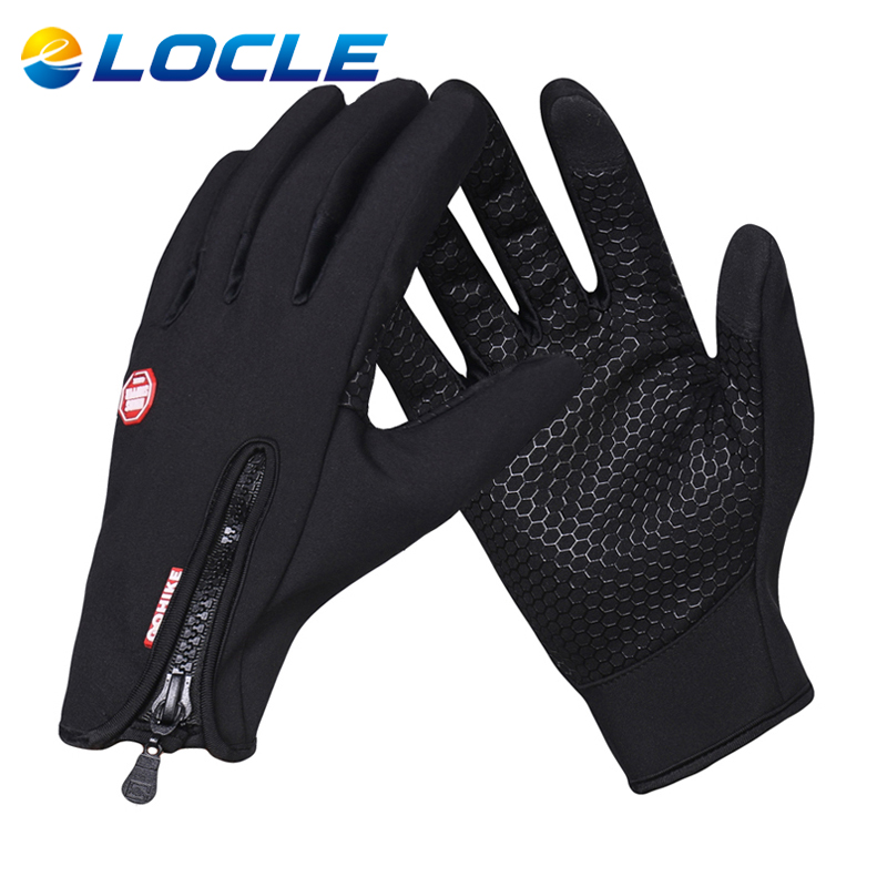 LOCLE Autumn Winter Windproof font b Ski b font font b Gloves b font Unisex Anti