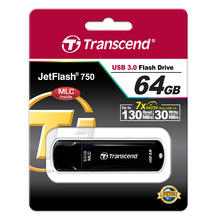 JetFlash 750 Flash Drive SuperSpeed USB 3.0 interface and MLC NAND Flash memory Sturdy structure & smooth surface CE, FCC, BSMI