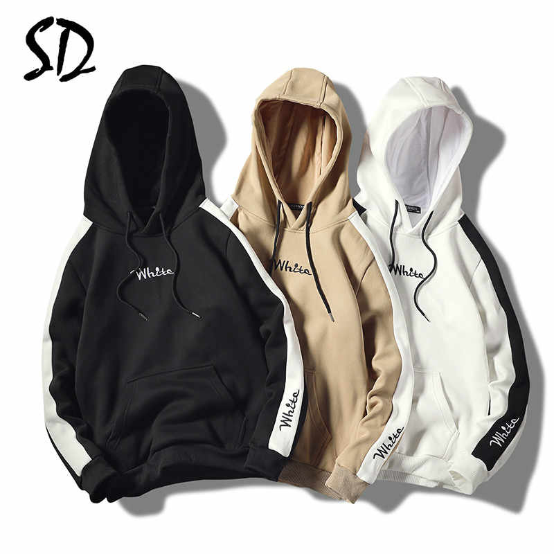 Plus Fluwelen Hoodies Mannen Casual Hip Hop Mannen Gedrukt Dikke Warme Fleece Hooded Sweater Mannen High Streetwear mannen Sportkleding 2019