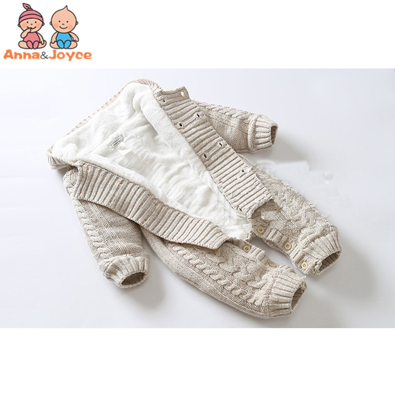 23bb8c79e Thick Warm Infant Newborn Baby Boy Girl Knitted Sweater Jumpsuit Hooded Kid  Toddler Outerwear Baby Rompers. sku: 32920930754