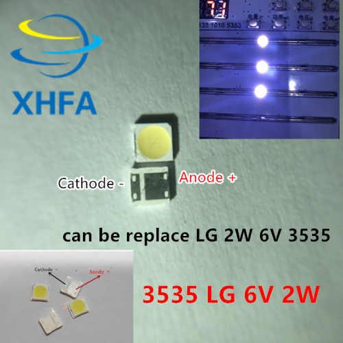 50 Buah/Lot untuk LG SMD LED 3535 6V Putih Dingin Chip 2 2W untuk TV/LCD lampu Latar Aplikasi TV