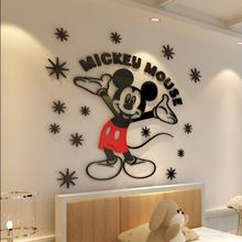 Creative 3D Cartoon Mickey Acrylic Wall Stickers For Bedroom