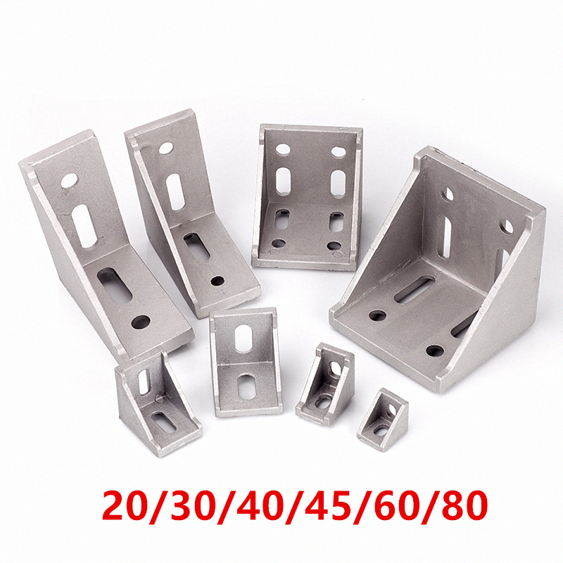 5/20pcs 2020 2028 <font><b>3030</b></font> 3060 4040 4080 6060 8080 Aluminum corner bracket for 20/30/40/45/60 Aluminum profile connector CNC Router image