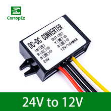 DC DC Converter 24V to 12V 1.5A 2A 3A 5A 8A 10A Step Down Buck Module Voltage Stabilizer 300W Regulator for Car Golf Cart ac dc step down converter module for vehicle char module 24v to 12v 8a waterproof control car module low heat auto protection