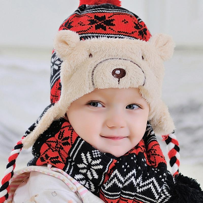 Baby Wintermütze Pilot Hut Earflap Beanie Häkeln Neugeborene Props ...