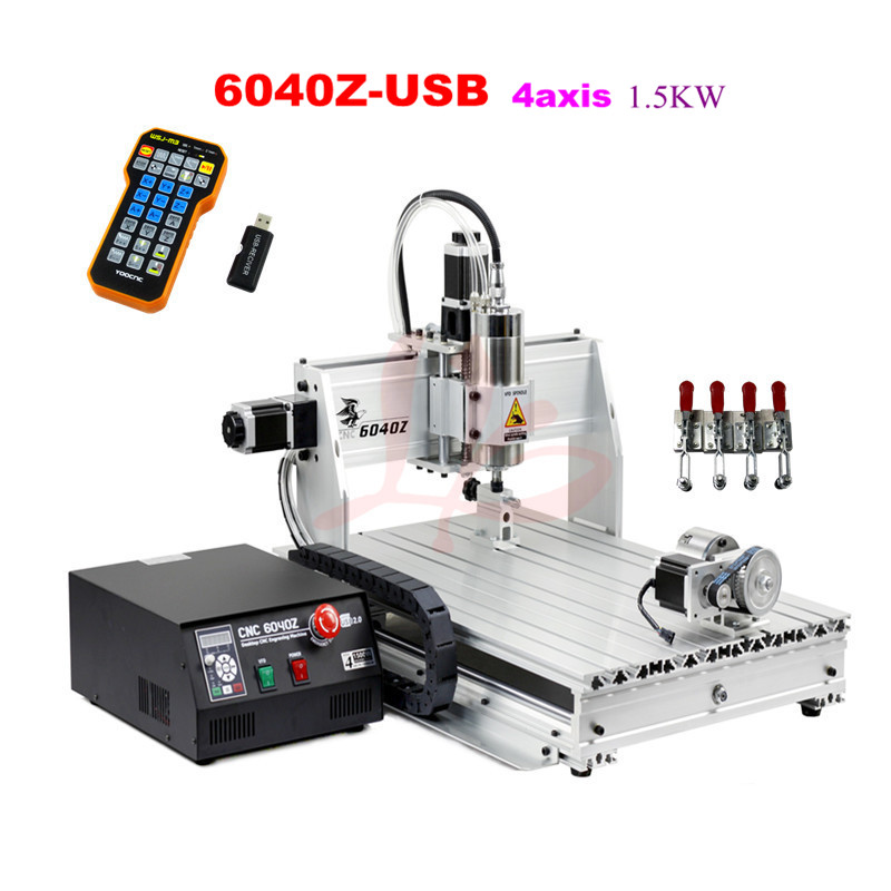 cnc 3040 3020 6040 router cnc wood engraving machine rotary axis for 3d work all knids of model number russian tax free FREE TAX TO ERU, CNC engraving machine 6040Z-USB 4axis with mach 3 remote control CNC Router , PCB/ stone cutting machine