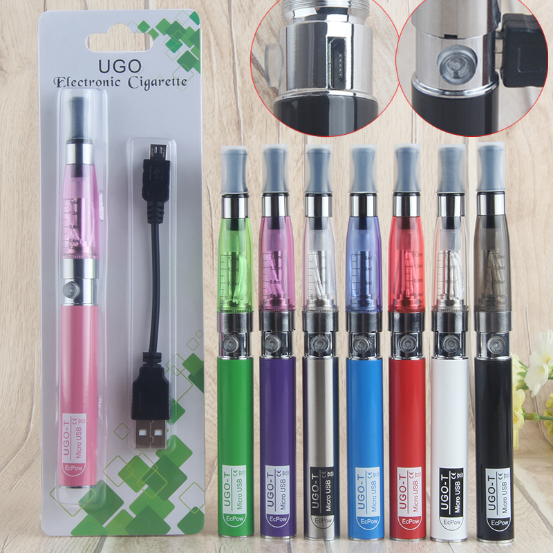Original UGO T Battery EGO Electronic Cigarette Vaporizer Kit 650mah Battery Vape 510 Thread 1.6ml CE4 MT3 Atomizer E Cigarettes
