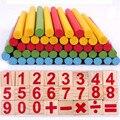 72 unids Montessori Materiales Montessori bloques Aprender Conocimientos de Matematica-damas de madera Juguetes De Madera para Niños juguetes Educativos