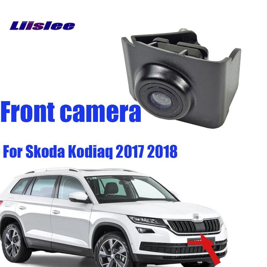 LiisLee For  Skoda Kodiaq 2017 2018CCD Car Front View Camera Front Camera Night Vision Waterproof