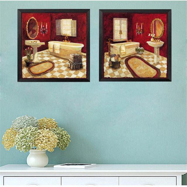 Badewanne Dusche Zimmer Modernen Kunstdruck Poster Wand Bild Leinwand  Malerei Drucke Poster Kein Rahmen Bad Home Decor HD2098