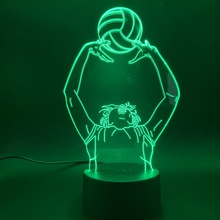 Sport Womens Volleyball Lift Action Led Night Light with Touch Switch for Home Office Room Decor Usb Battery Nightlight Lamp
