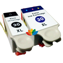 Free Shipping 1 SET of Ink cartridge compatible for kodak 30 XL Hero 2.2 / 3.1 4.2 5.1 All in One with chip