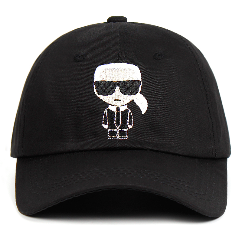 Designer Karl Dad Hat Snapback   Cap   Cotton   Baseball     Cap   For Men Women 100% cotton Hip Hop golf   caps   Bone Garros