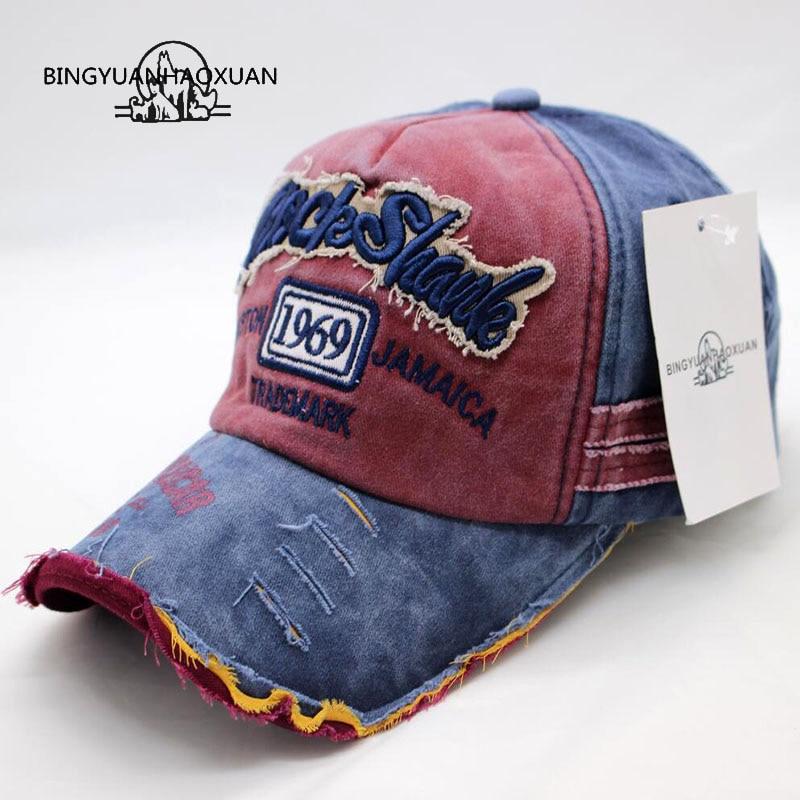 Men Women Flat Bill Demin Distressed Cap Vintage Baseball Trucker Hat S!